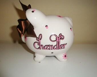 Personalized Ceramic Piggy bank - medium