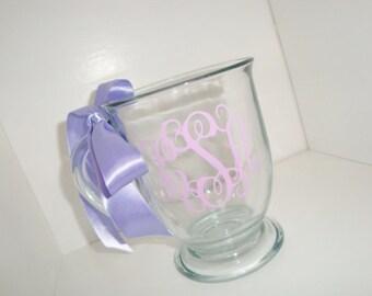 Personalized glass 16 oz coffee mug