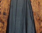 90s Vintage Sheer Black Skirt Privilege Full Length Skirt