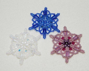 Snowflake #15 Beaded Ornament Pattern