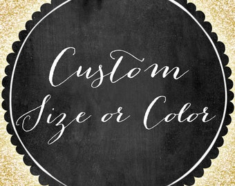 Custom Size + Colors for any existing 8X10 Instant Download from Infinite Love Design
