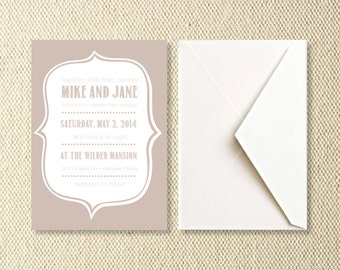 Printable Vintage Wedding Invitations
