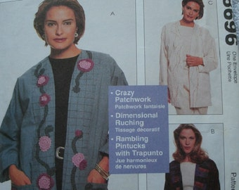 Misses Lined jackets Sizes 8-22 Mccalls 8696 Sewing With Nancy by Nancy Zieman UNCUT Pattern 1997