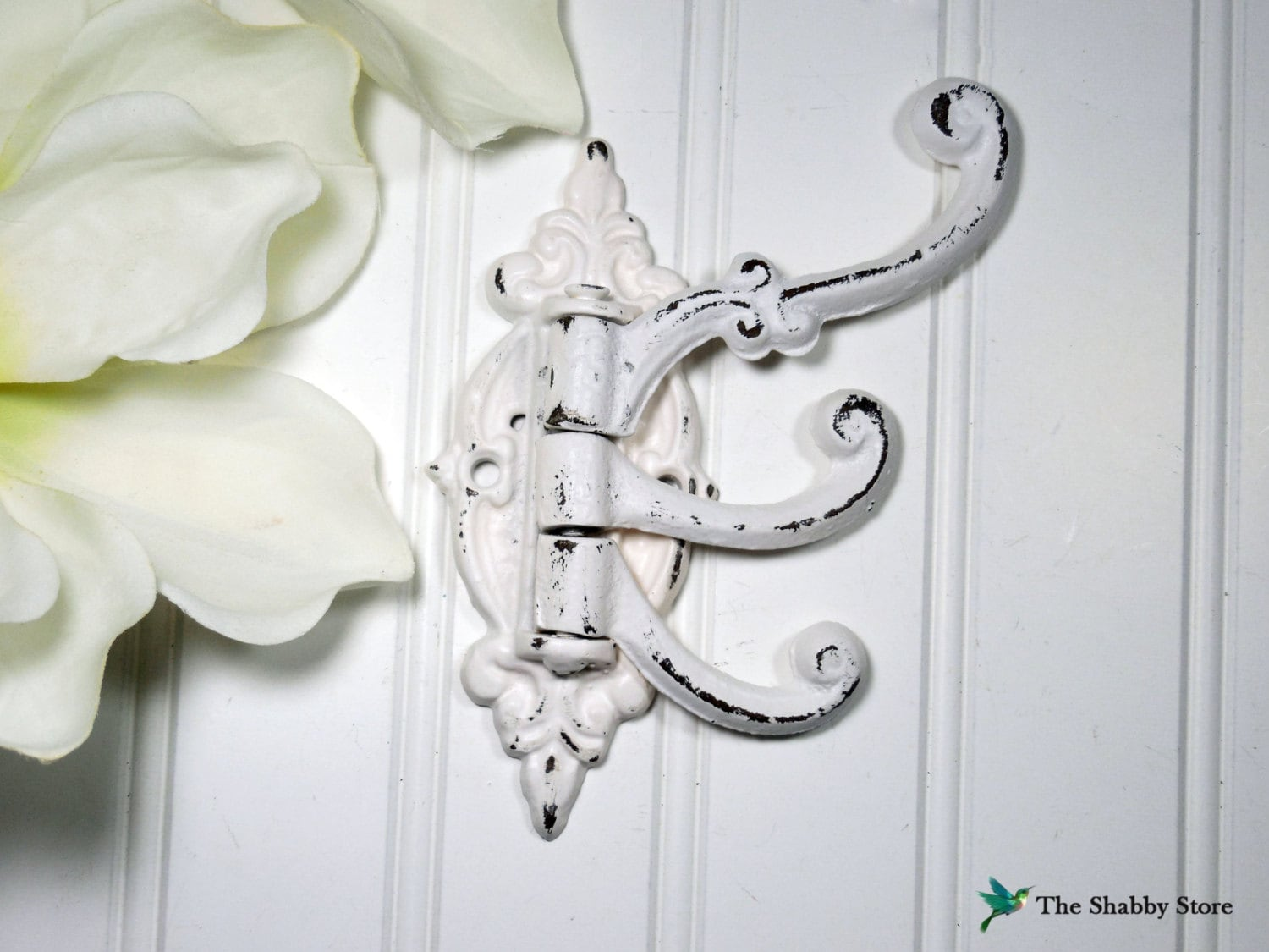 shabby chic wall hook french country coat by theshabbystore. Black Bedroom Furniture Sets. Home Design Ideas