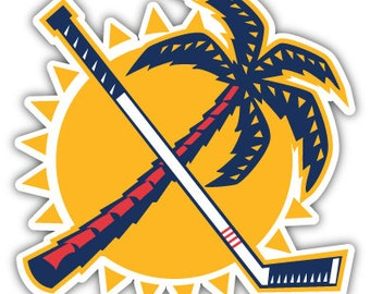 "Florida Panthers Palm Tree NHL Hockey sticker decal 4"" x 4"""