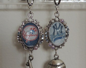 New York Yankees Baseball Earrings