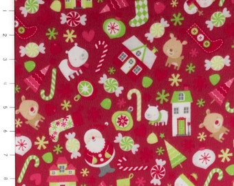 Holidays Main Red Flannel by Riley Blake (sold by the 1/4 yard)
