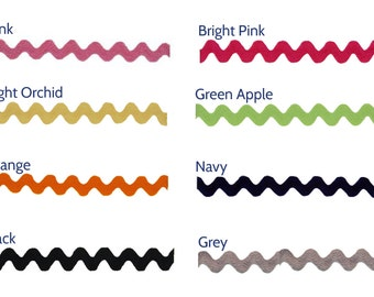 "Ric Rac Large 3/4"" Poly (sold by the yard)"