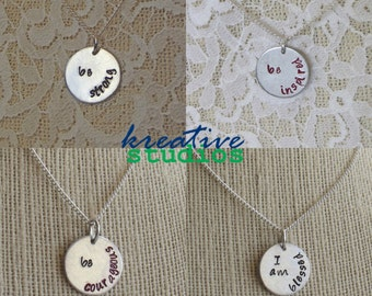 Choose Your Be Empowered Necklace (or Key Chain) - Be Empowered Collection, strength, empowerment, inspiring