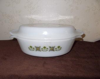 Vintage Fire King oval Casserole Dish