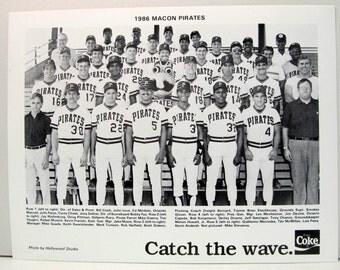 1986 MACON PIRATES Team Photo.  Single A minor league baseball