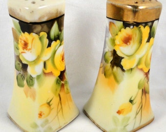Vintage Salt and Pepper Shaker Floral FREE SHIPPING USA