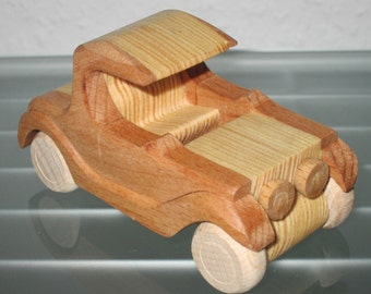 Oldtimer T model UNIQUE wooden car model car car wood very rare handmade