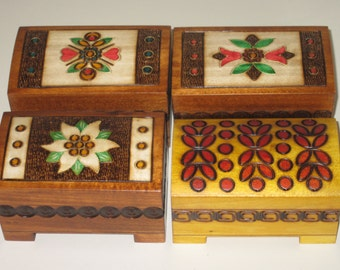 1 SET 4 jewelry box wooden storage