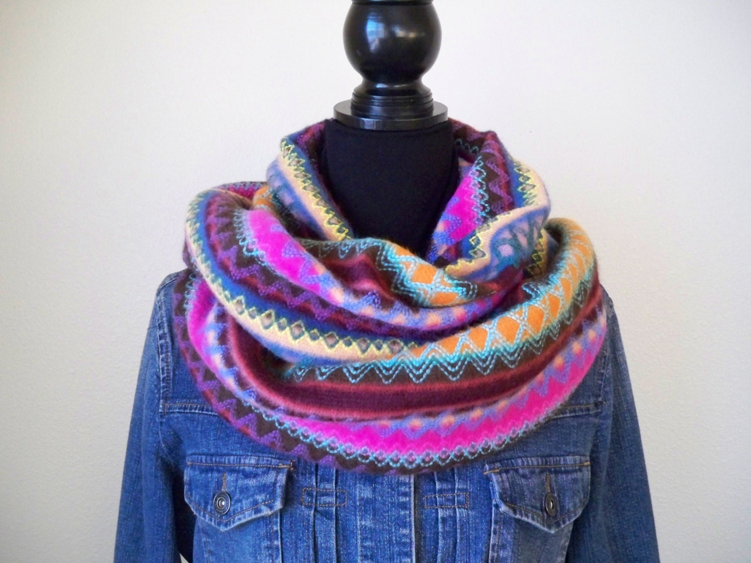warm infinity scarf brightly colored infinity by