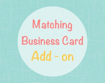 Matching business card design add on
