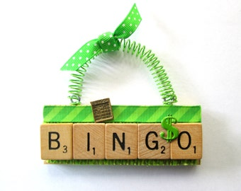 Bingo Scrabble Tile Ornament