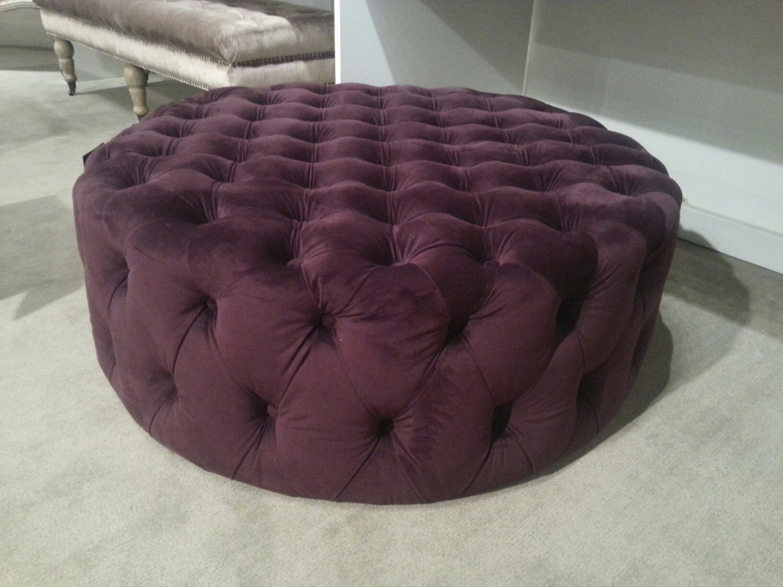 Modern Round Tufted Ottoman Modern Button Tufting Bench