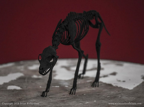 Black Shuck Skeleton 3D Print Taxidermy Sculpture