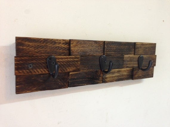 Rustic Wall Mount Key Rack Entryway Storage Rustic Key