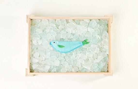CASTAÑETA. Sac en forme de poisson à la main (15x5cm)