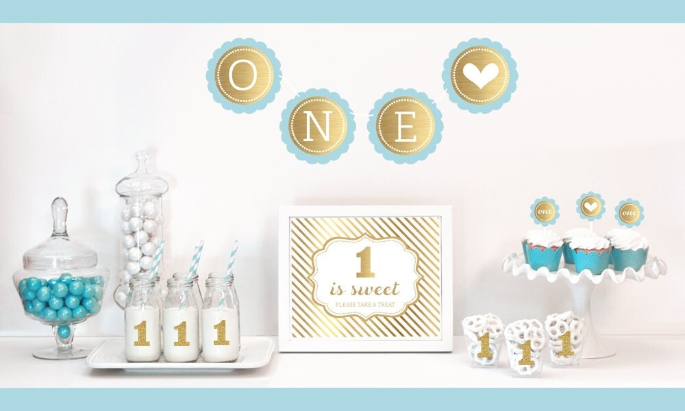 Kitchen dining for Baby boy birthday party decoration