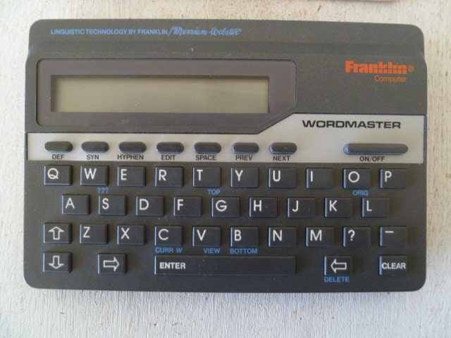 franklin wordmaster deluxe wm 1055 manual