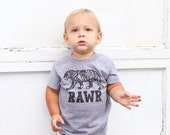 RAWR Tiger tee - gray tee - sizes 3 months to 4T