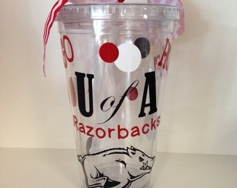 University of Arkansas U of A Razorbacks Insulated Tumbler