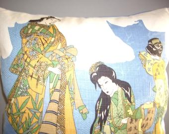 Japanese scene pillow cover
