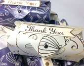 Thank You Treat Boxes blue and cream 8 pack