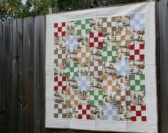 Cowboy quilt | Etsy : cowboy baby quilt - Adamdwight.com