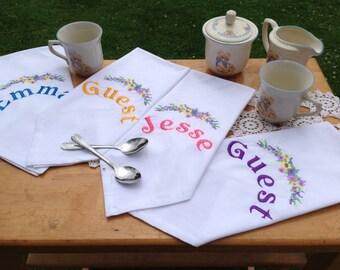 Tea Party Napkins, Custom, Personalized