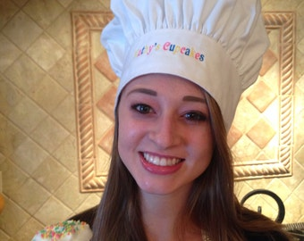 Personalized Chef's Hat in White
