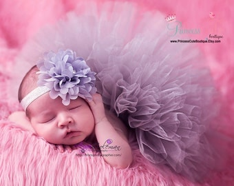 Precious Pansy Newborn Tutu and Lace Flower Headband Set, pink newborn tutu, newborn girl tutu, newborn pink tutu, tutu for newborns