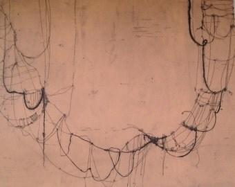 "Intranet (skin tone), etching, 22""x 30"""