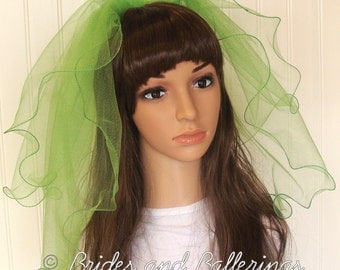 Bright Green Bachelorette Veil