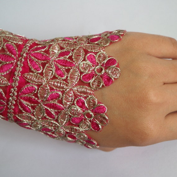 Lace arm cuff bracelet / party wear ankle cuff by ...