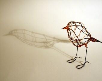 Hand made wire Robin