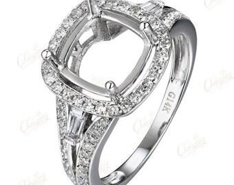 Natural 0.59ct Diamond Engagement Semi Mount Ring