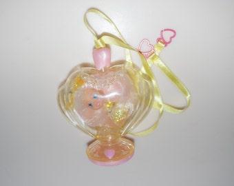 Liddle Kiddles Pretty Perfume Collection Lacey Lemon Heart Bottle Pink Yellow