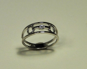 Simplicity & Beauty Equestrian Silver Snaffle Bit Ring, sizes 4-9