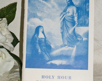Holy Hour For Religious Vintage Booklet 1940s