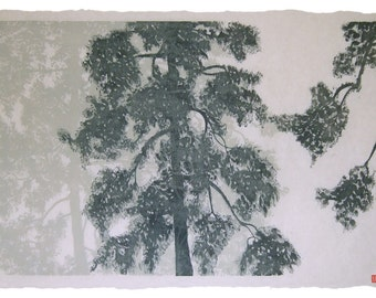 Original Hand Printed Woodcut printed onto fine Japanese Paper