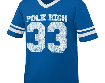 POLK HIGH t-shirt Jersey style 100% made in the usa vintage retro hip hop