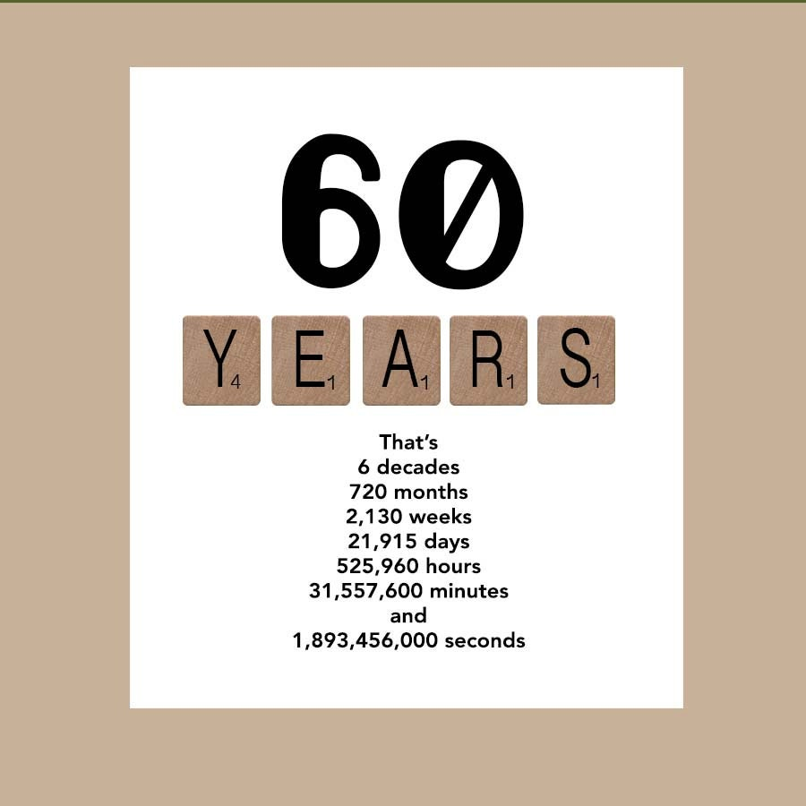 Sayings For 60th Birthday Card: 60th Birthday Card Milestone Birthday Card The By