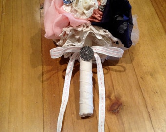Fabric Flower Girl Bouquet