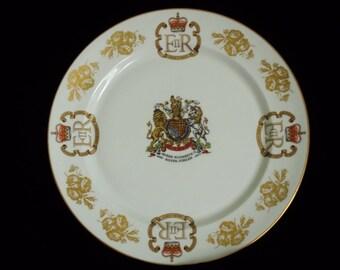 Souvenir Plate Queen Elizabeth II Silver Jubilee