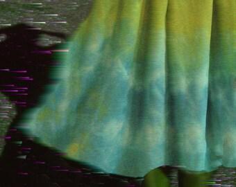 Ombré Silk Flirt Skirt