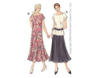 Sewing Pattern - Misses Pattern,  Tops Pattern, Skirt Pattern  Kwik Sew #K3233